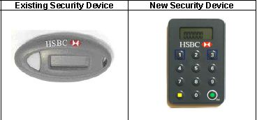 Offshore Online Banking : HSBC New Security Device